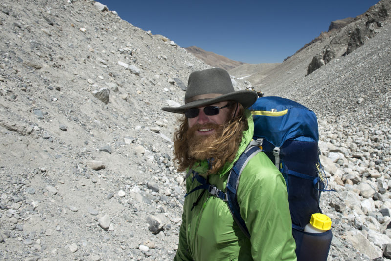 DSC_5647_Chad Jukes on his way from basecamp (5200 m) to advanced basecamp (6400 m)_CROP. Copyright Dave Ohlson_50percent