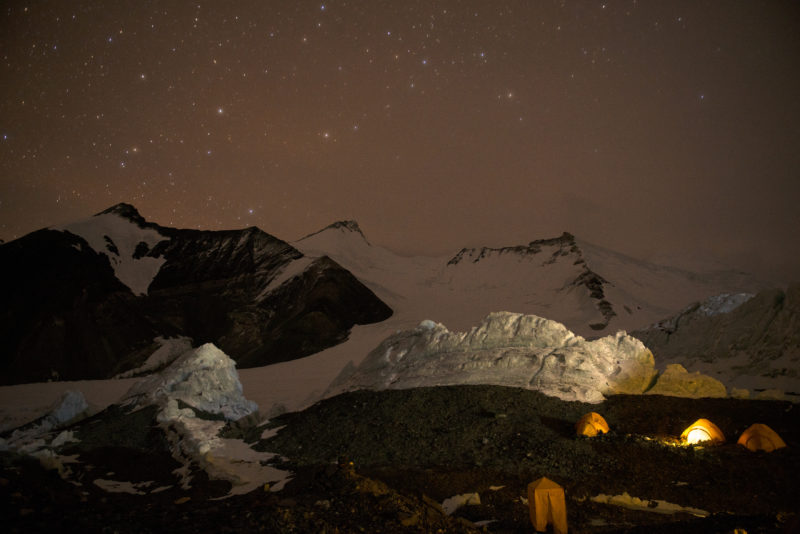 DSC_6099_Advanced basecamp (6400 m) at night. Copyright Dave Ohlson_50percent